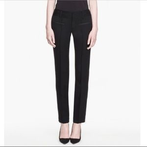 HELMUT LANG Black Light Wool Pants Sz 2